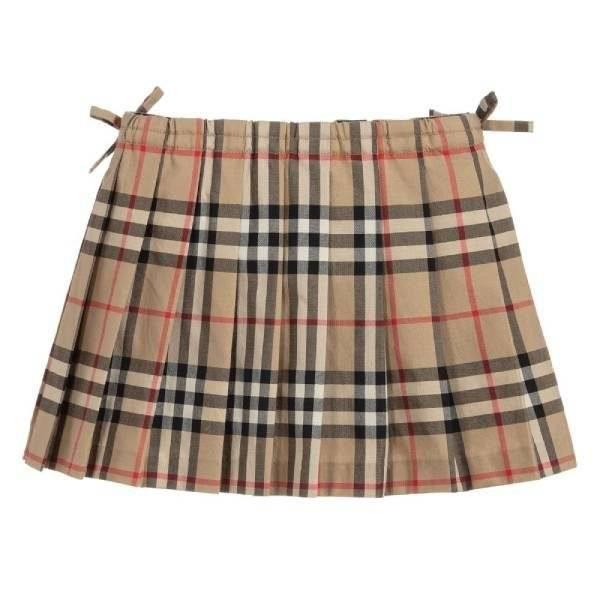 Burberry Baby Girls Check Cotton Skirt