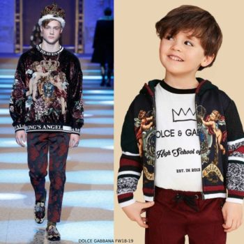 Dolce Gabbana Boys L amore e bellezza Runway Sweater