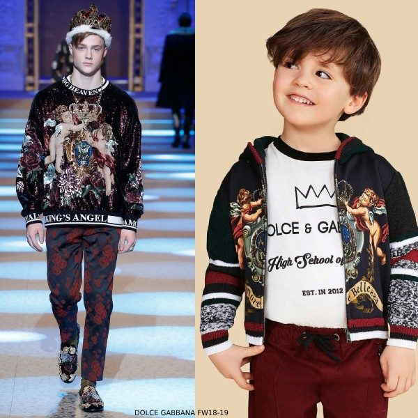 Dolce Gabbana Boys L amore e bellezza Runway Sweater