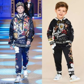 Dolce & Gabbana Boys Mini Me ANGEL Runway Sweatsuit