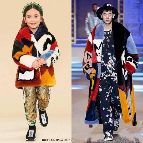 Dolce & Gabbana Faux Fur RUNWAY Coat