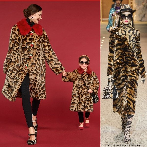 Dolce & Gabbana Girls Mini Me MILANO CENTRAL Faux Fur Coat