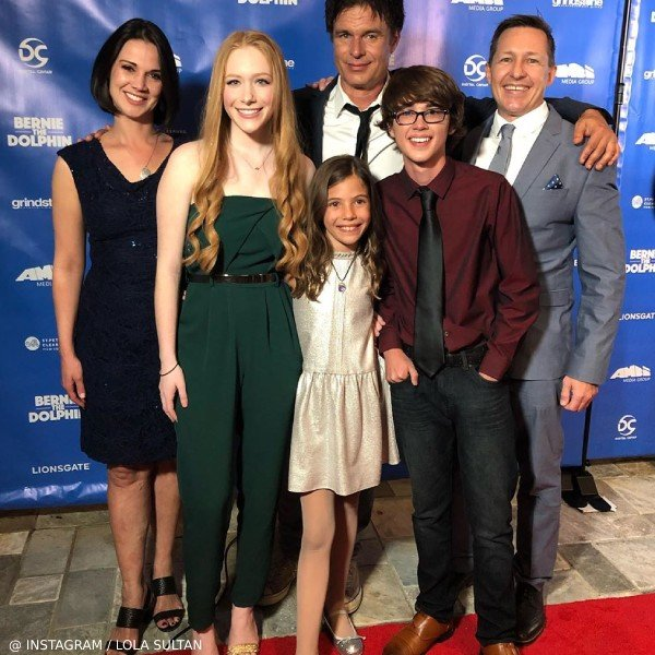 Lola Sultan Bernie the Dolphin Movie Premiere Wild Gorgeous Rose Gold Shimmer Dress