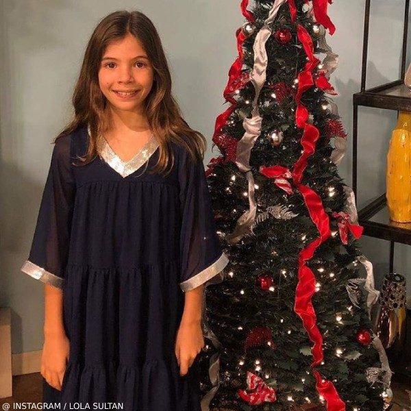 Lola Sultan Christmas 2018 Wild & Gorgeous Girls Navy Blue Chiffon Dress
