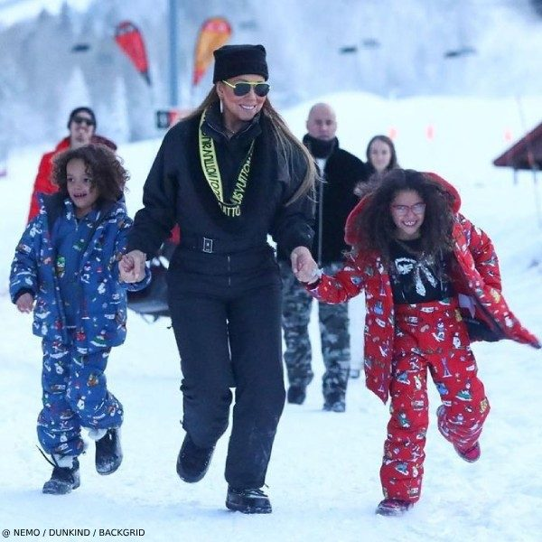 Mariah Carey Twins Monroe Morocco Dolce Gabbana Junior Down Ski Jacket Pants