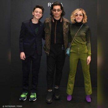 Noah Schnapp Kiernan Shipka Fendi Fashion Show