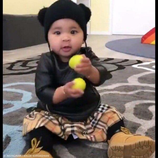 True Thompson Khloe Kardashian Burberry Baby Plaid Skirt