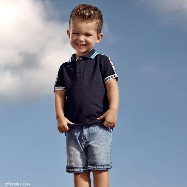 BOSS Baby Boys Blue Polo Shirt & Blue Denim Shorts