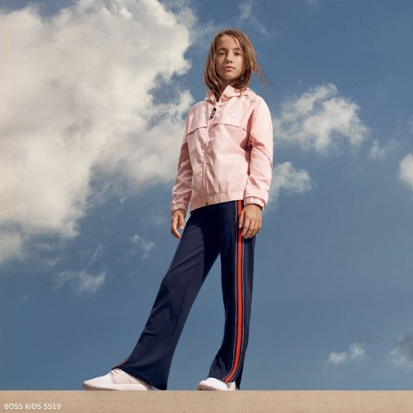 Boss Girls Pink Jacket Blue Side Stripe Pants