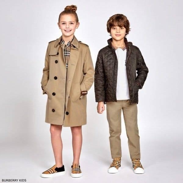 Burberry Kids Mayfair Beige Trench Coat