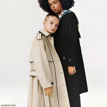 Burberry Kids Waterproof Beige Trench Coat