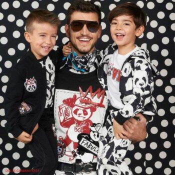 Dolce Gabbana Boys Mini Me Panda Black & White Tracksuit Spring Summer 2019