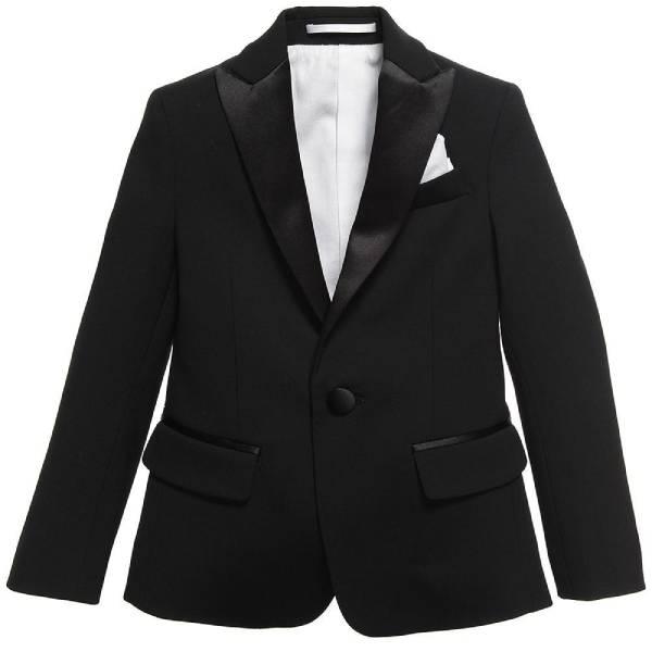 Dsquared2 Boys Black Tuxedo Blazer