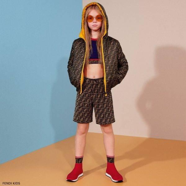 Fendi Kids Unisex Reversible Logo Jacket & Shorts