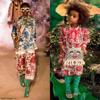 GUCCI GIRL MINI ME Pink Floral Print Dress Resort 2019