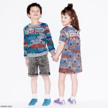 Kenzo Kids Girls Wax Eye Sweatshirt Dress & Boys Sweatshirt