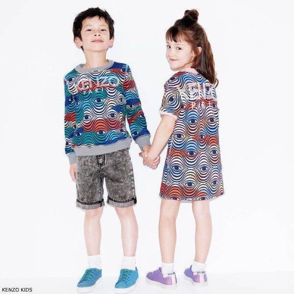 Kenzo Kids Girls Wax Eye Sweatshirt Dress & Boys Sweatshirt