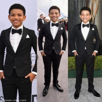 Lonnie Chavis Screen Actors Guild Award 2019 Dsquared2 Black Tuxedo