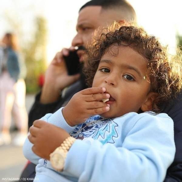 DJ Khaled & Asahd - Kenzo Baby Boy Blue Tiger Logo Sweatshirt