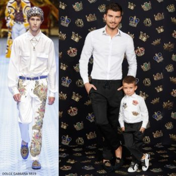 Dolce & Gabbana Boys Mini Me White King Tuxedo Shirt