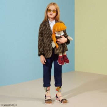 Fendi Kids Mini Me Brown FF Logo Blazer Spring Summer 2019