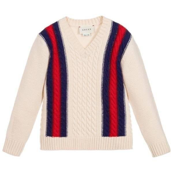 Gucci Boys Ivory Wool Sweater