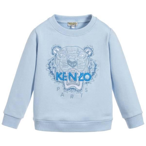 Kenzo Kids Unisex Blue Cotton Sweatshirt