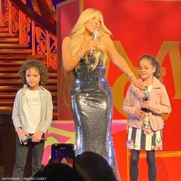 Mariah Carey's Daughter Monroe Cannon - DOLCE & GABBANA GIRLS MINI ME BLACK STRIPE ROSE DRESS