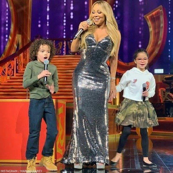 Mariah Carey's Son Monroe Cannon - Balmain Boys Mini Me Sweatshirt