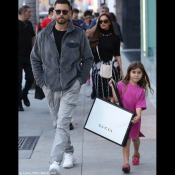 Penelope Disick GUCCI Children's Pink Mini Me Princetown GG Velvet Slipper Shoes