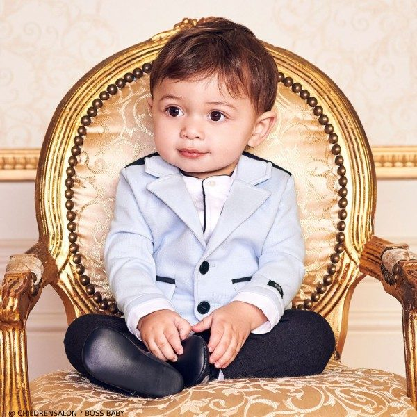 BOSS EID Baby Boys Blue Special Occasion Suit