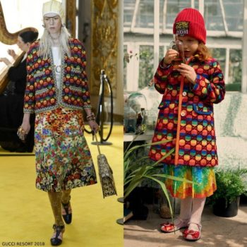 Gucci Girls GG Rainbow Velvet Coat Silk Floral Print Skirt