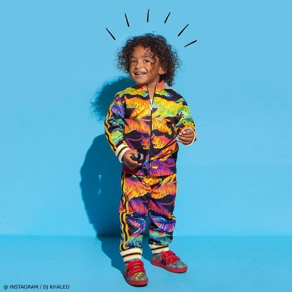 Asahd Khaled - Gucci Baby Boy Mni Me Rainbow Tiger Tracksuit
