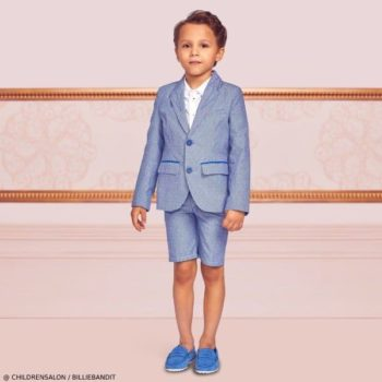 Billybandit Boys Blue Cotton Jacket Short Suit