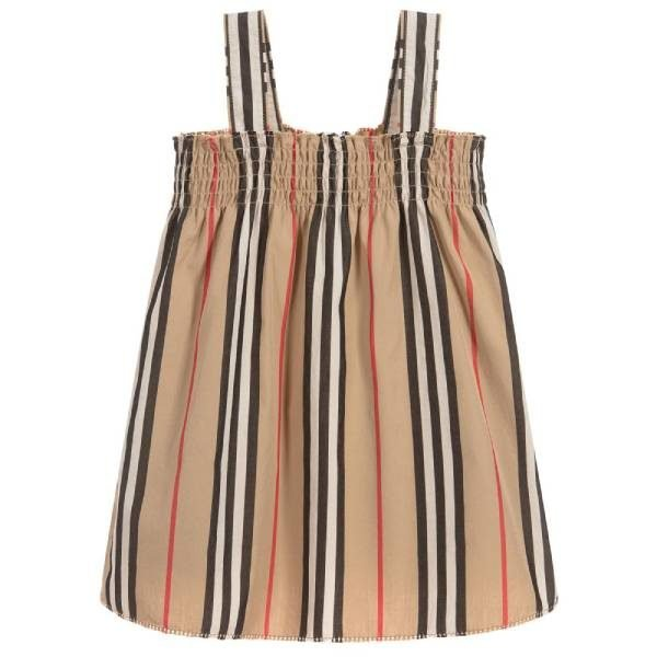 Burberry Baby Girls Beige Cotton Dress