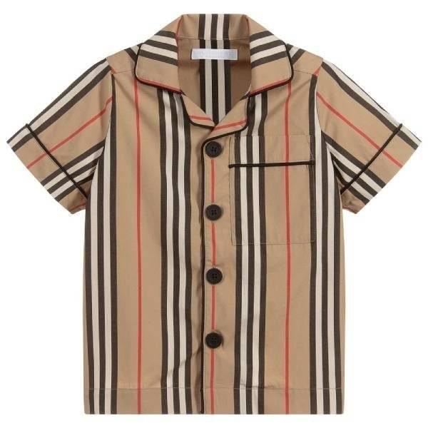 Burberry Boys Stripe Cotton Shirt