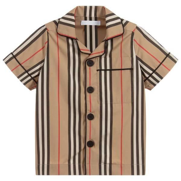 Burberry Boys Beige Stripe Shirt