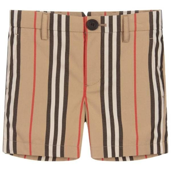 Burberry Iconic Stripe Cotton Shorts