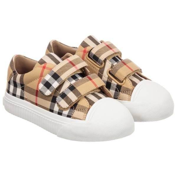 Burberry Unisex Beige Check Trainers