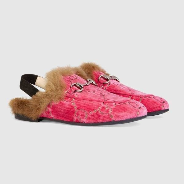 Children's Princetown GG velvet slipper