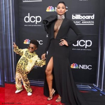 Ciara Son Future Bilboard Music Awards Young Versace Mini Me Baroque Print Jacket Pants
