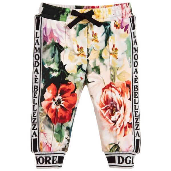 Dolce Gabbana Baby Girl Floral Jogger Pants