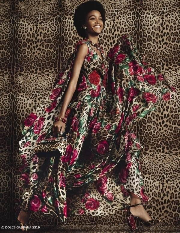 Dolce Gabbana Womens Rose Leo Dress Spring Summer 2019