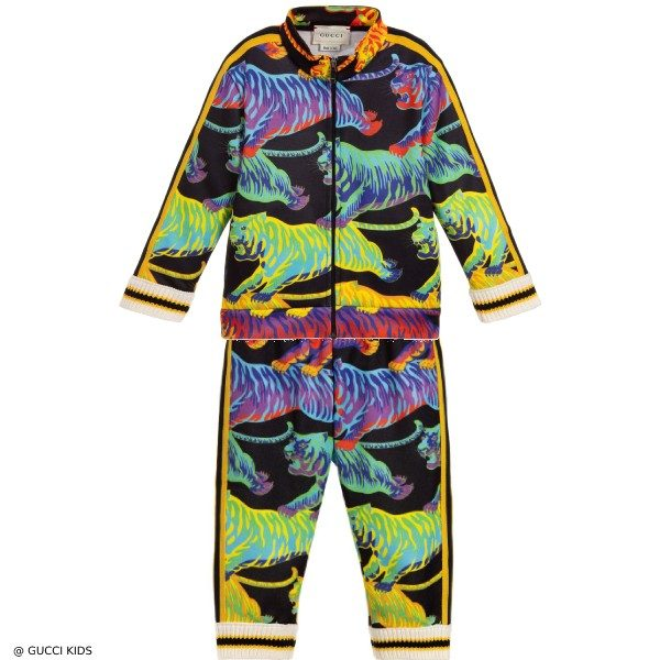 Gucci Baby Boy Mni Me Rainbow Tiger Tracksuit