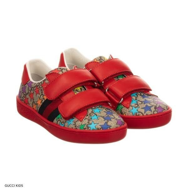 Gucci Kids Rainbow Star ACE Sneakers