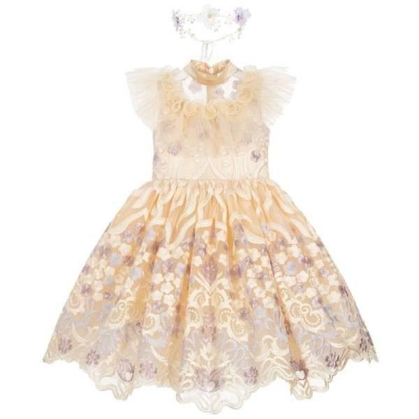 Junona Girls Tulle Lace Dress Set