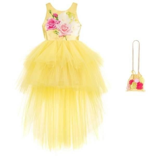 Junona Satin & Tulle Dress & Bag Set (1)