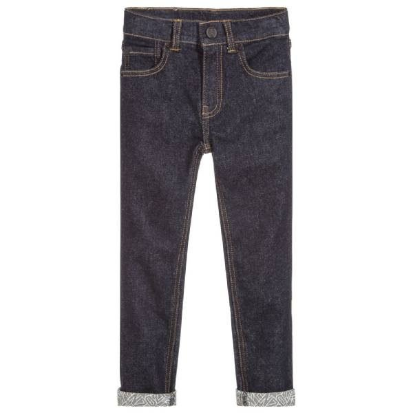 Kenzo Kids Blue Skinny Fit Denim Jeans
