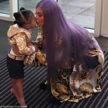 Kylie Jenner Stormi Webster Met Galla 2019 Young Versace Girls Baroque Yellow Pink Hoodie