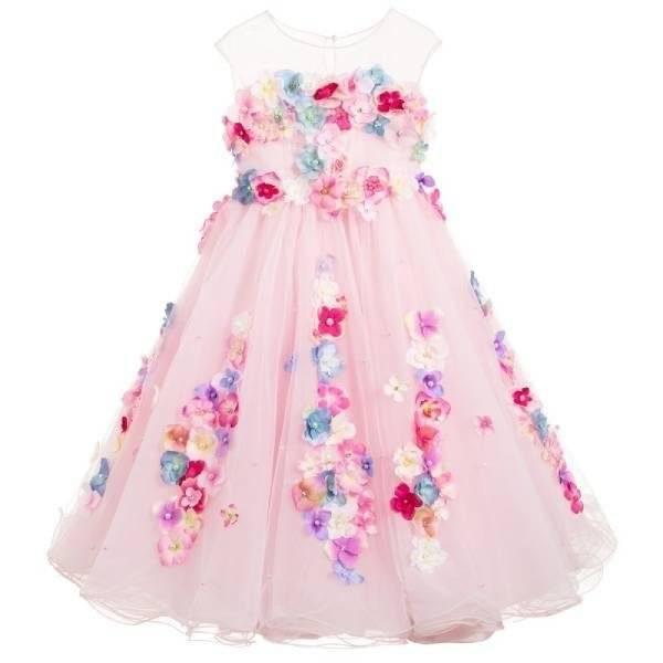 Lesy Girls Luxury Pink Tulle Dress